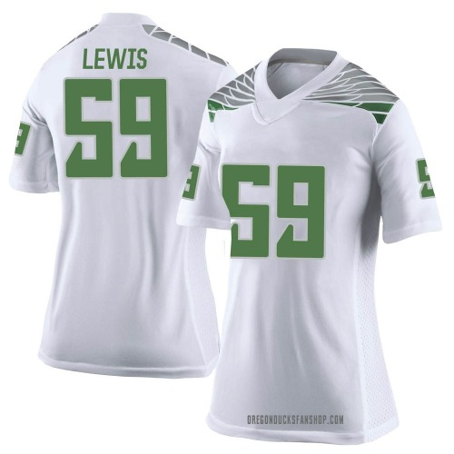 Women's Nike Devin Lewis Oregon Ducks Limited White Football College Jersey