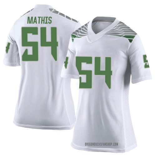 Women's Nike Dru Mathis Oregon Ducks Limited White Football College Jersey