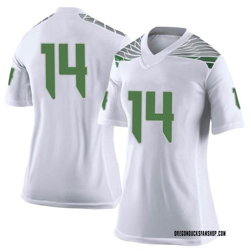 Women's Nike Haki Woods Jr. Oregon Ducks Limited White Football College Jersey