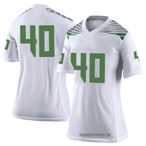 Women's Nike Harrison Beattie Oregon Ducks Limited White Football College Jersey
