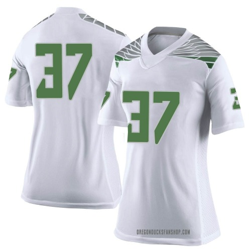 Women's Nike Henry Katleman Oregon Ducks Limited White Football College Jersey
