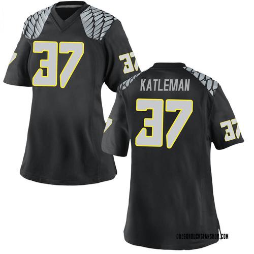 Women's Nike Henry Katleman Oregon Ducks Replica Black Football College Jersey