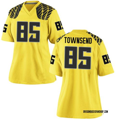 Women's Nike Isaac Townsend Oregon Ducks Replica Gold Football College Jersey