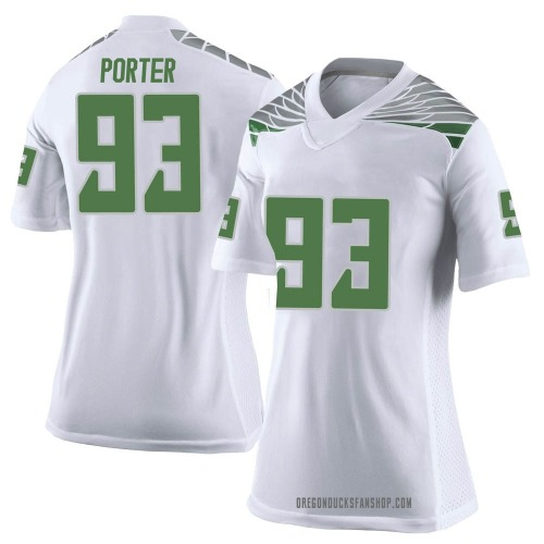 Women's Nike Isaia Porter Oregon Ducks Limited White Football College Jersey