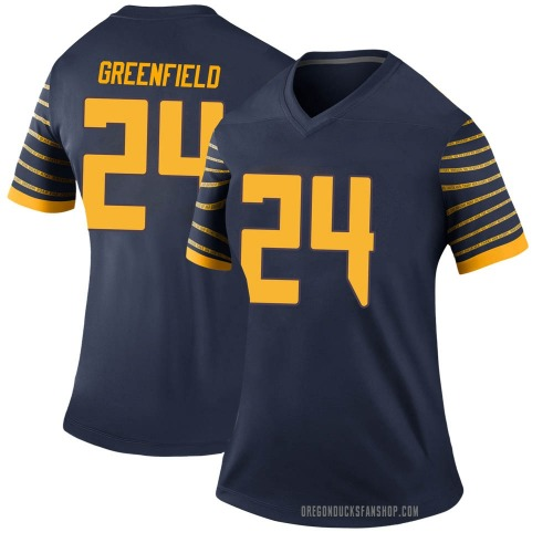 Women's Nike JJ Greenfield Oregon Ducks Legend Green Navy Football College Jersey