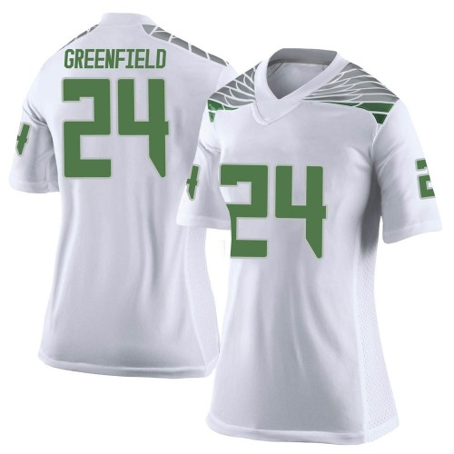Women's Nike JJ Greenfield Oregon Ducks Limited White Football College Jersey