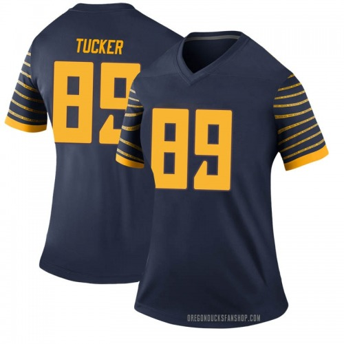 Women's Nike JJ Tucker Oregon Ducks Legend Navy Football College Jersey