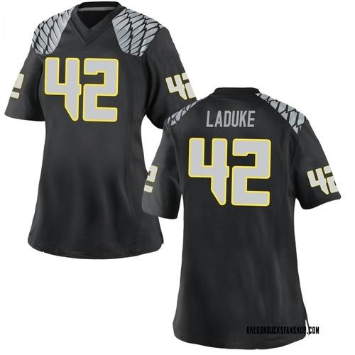 Women's Nike Jackson LaDuke Oregon Ducks Replica Black Football College Jersey