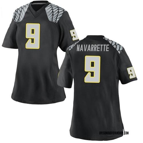 Women's Nike Jaden Navarrette Oregon Ducks Game Black Football College Jersey