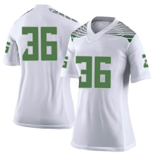 Women's Nike Jake Foggia Oregon Ducks Limited White Football College Jersey