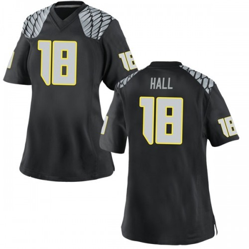 Women's Nike Jalen Hall Oregon Ducks Game Black Football College Jersey