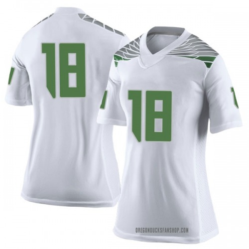 Women's Nike Jalen Hall Oregon Ducks Limited White Football College Jersey