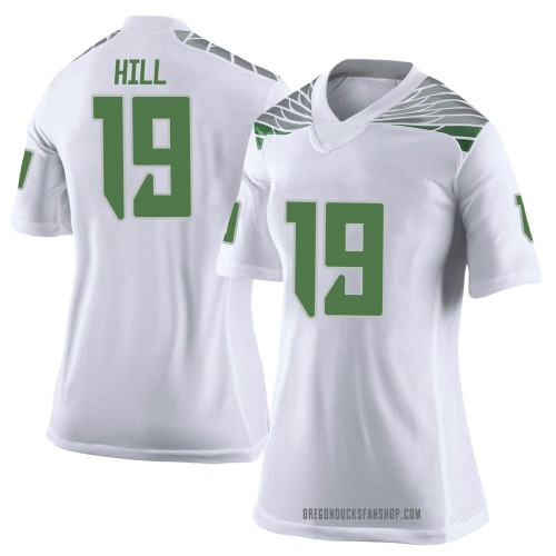 Women's Nike Jamal Hill Oregon Ducks Limited White Football College Jersey