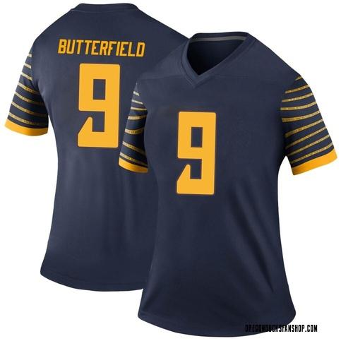 Women's Nike Jay Butterfield Oregon Ducks Legend Navy Football College Jersey