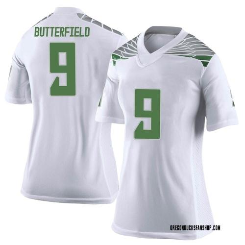 Women's Nike Jay Butterfield Oregon Ducks Limited White Football College Jersey