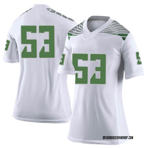 Women's Nike Jaylen Smith Oregon Ducks Limited White Football College Jersey
