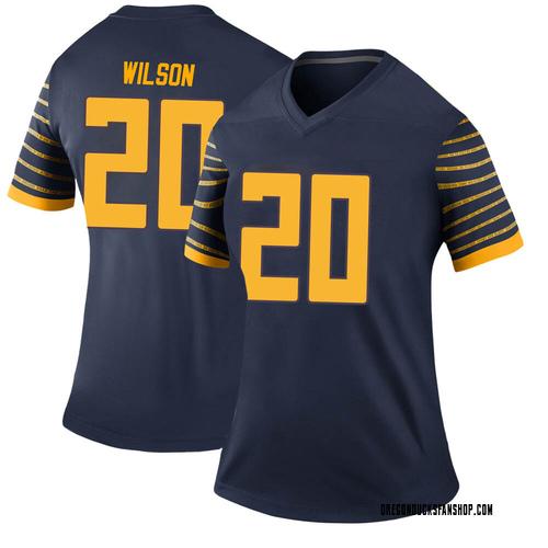 Women's Nike Jayvaun Wilson Oregon Ducks Legend Navy Football College Jersey