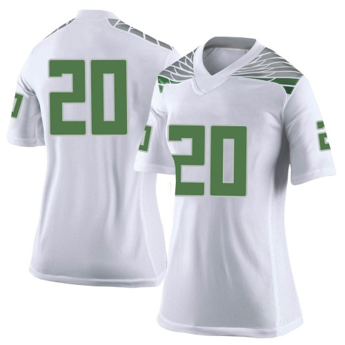 Women's Nike Jayvaun Wilson Oregon Ducks Limited White Football College Jersey