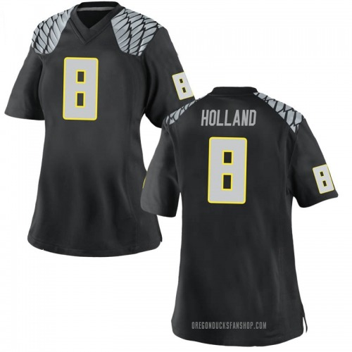 Women's Nike Jevon Holland Oregon Ducks Game Black Football College Jersey