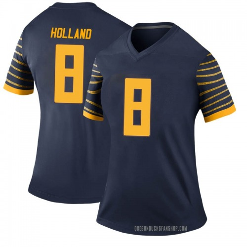 Women's Nike Jevon Holland Oregon Ducks Legend Navy Football College Jersey