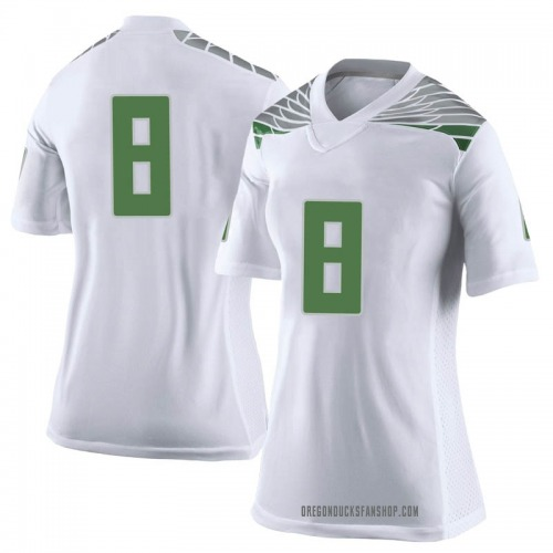 Women's Nike Jevon Holland Oregon Ducks Limited White Football College Jersey