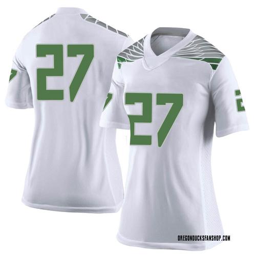 Women's Nike John Harvey Oregon Ducks Limited White Football College Jersey