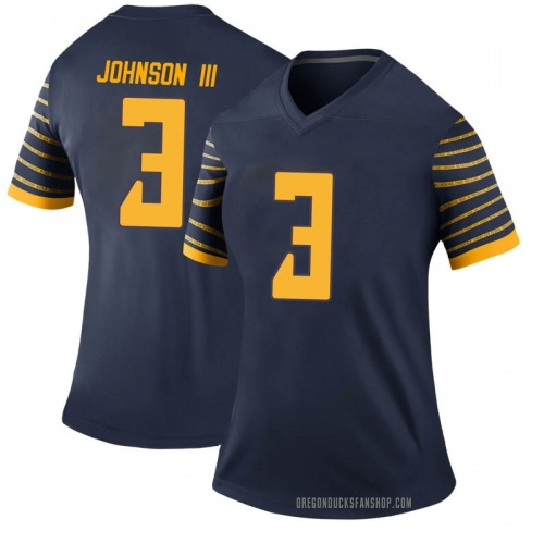 Women's Nike Johnny Johnson III Oregon Ducks Legend Navy Football College Jersey