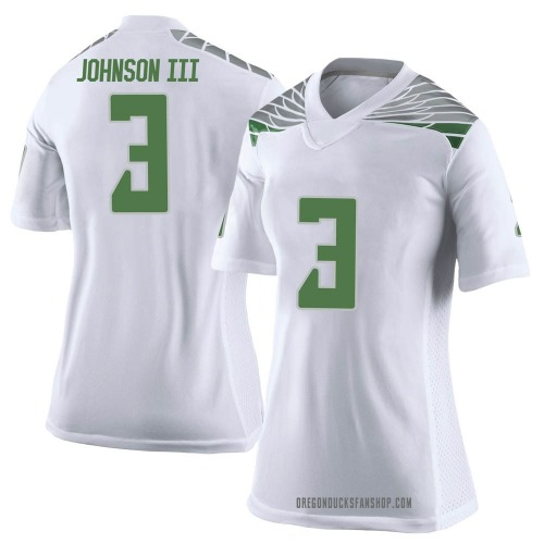 Women's Nike Johnny Johnson III Oregon Ducks Limited White Football College Jersey