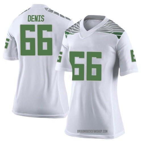 Women's Nike Jonathan Denis Oregon Ducks Limited White Football College Jersey
