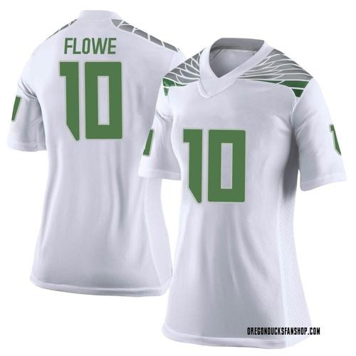 Women's Nike Justin Flowe Oregon Ducks Limited White Football College Jersey