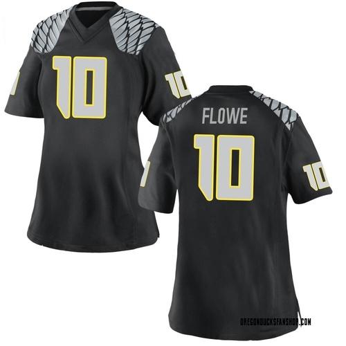 Women's Nike Justin Flowe Oregon Ducks Replica Black Football College Jersey