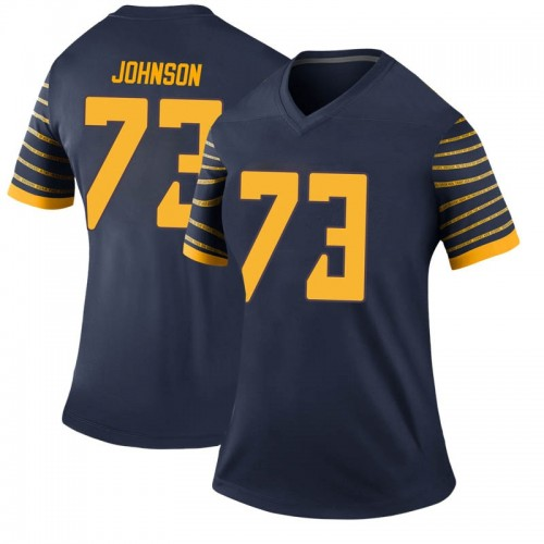 Women's Nike Justin Johnson Oregon Ducks Legend Navy Football College Jersey