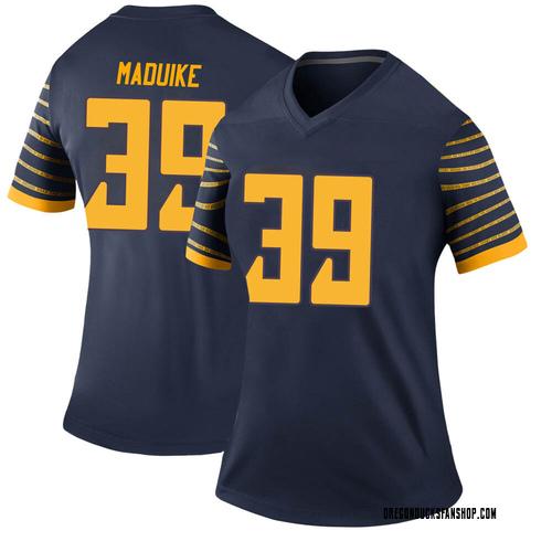 Women's Nike KJ Maduike Oregon Ducks Legend Navy Football College Jersey
