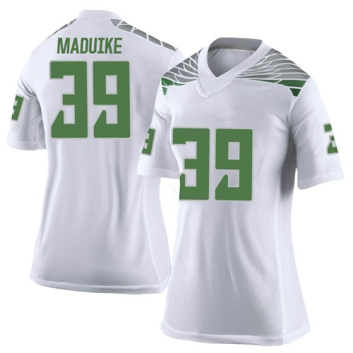 Women's Nike KJ Maduike Oregon Ducks Limited White Football College Jersey