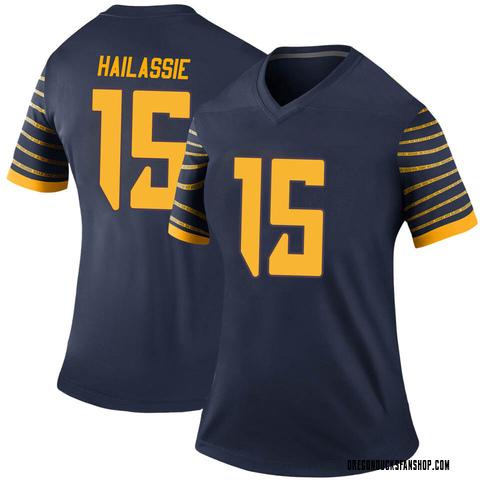 Women's Nike Kahlef Hailassie Oregon Ducks Legend Navy Football College Jersey