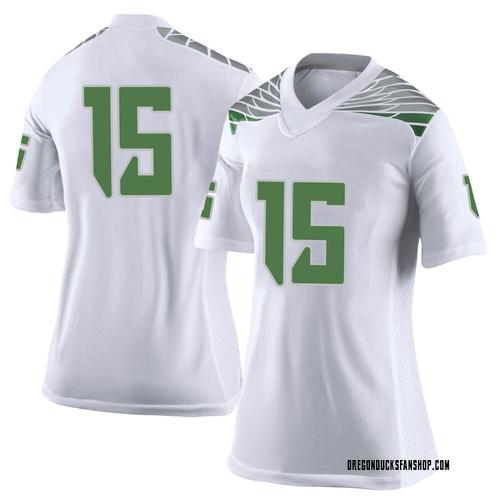 Women's Nike Kahlef Hailassie Oregon Ducks Limited White Football College Jersey