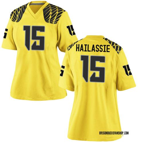 Women's Nike Kahlef Hailassie Oregon Ducks Replica Gold Football College Jersey