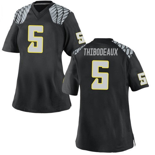 Women's Nike Kayvon Thibodeaux Oregon Ducks Game Black Football College Jersey