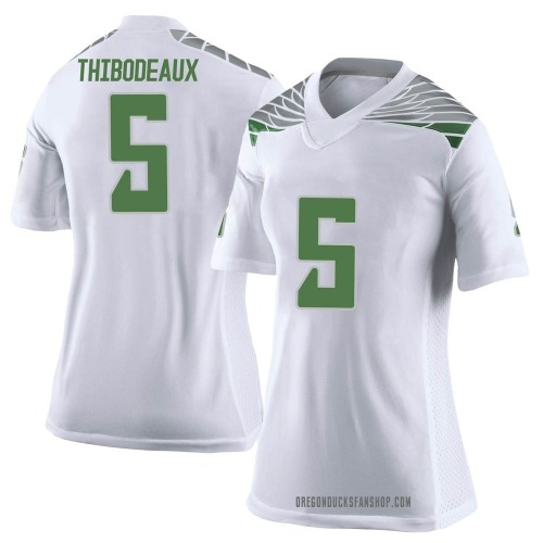Women's Nike Kayvon Thibodeaux Oregon Ducks Limited White Football College Jersey