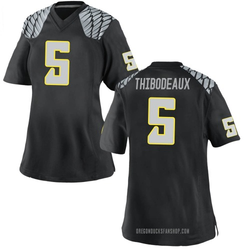 Women's Nike Kayvon Thibodeaux Oregon Ducks Replica Black Football College Jersey