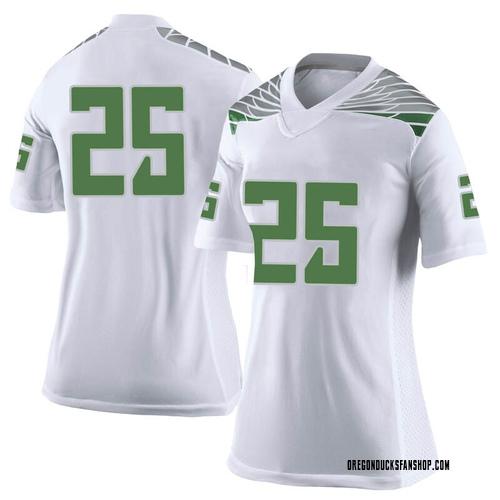 Women's Nike Kyle Buckner Oregon Ducks Limited White Football College Jersey