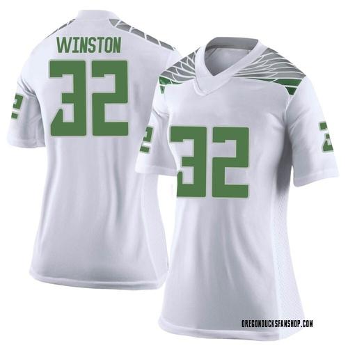 Women's Nike La'Mar Winston Jr. Oregon Ducks Limited White Football College Jersey