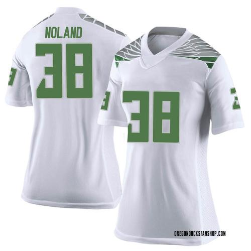 Women's Nike Lucas Noland Oregon Ducks Limited White Football College Jersey