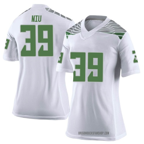 Women's Nike MJ Cunningham Oregon Ducks Limited White Football College Jersey