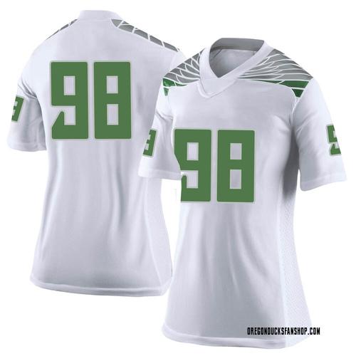 Women's Nike Maceal Afaese Oregon Ducks Limited White Football College Jersey