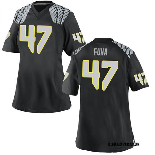 Women's Nike Mase Funa Oregon Ducks Game Black Football College Jersey
