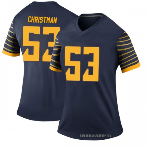 Women's Nike Matt Christman Oregon Ducks Legend Navy Football College Jersey