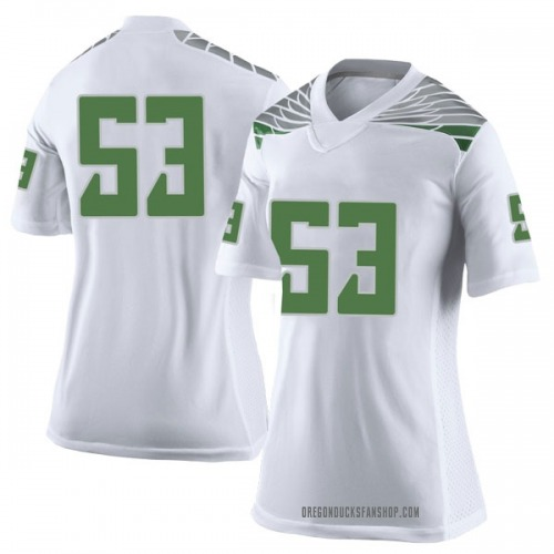 Women's Nike Matt Christman Oregon Ducks Limited White Football College Jersey