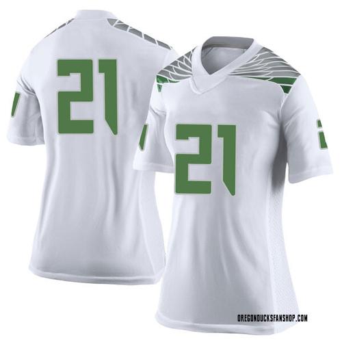 Women's Nike Mattrell McGraw Oregon Ducks Limited White Football College Jersey