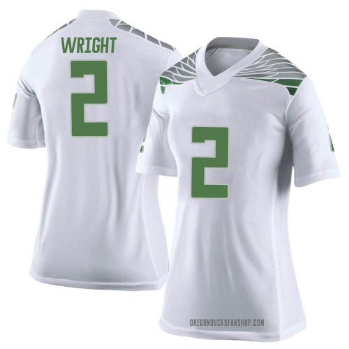 Women's Nike Mykael Wright Oregon Ducks Limited White Football College Jersey